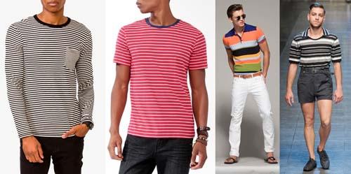 Модные мужские футболки 2014 в полоску