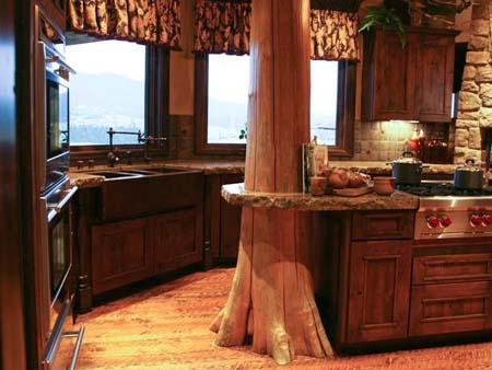 самая красивая деревенская кухня
