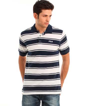 Модная мужская футболка 2015 в полоску  фото