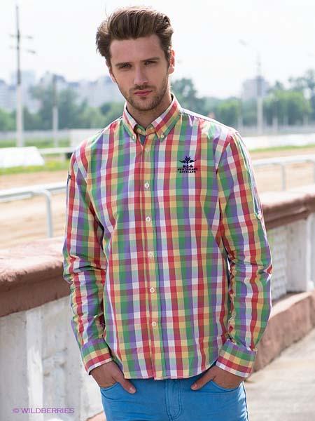 Модная мужская рубашка в клетку 2015