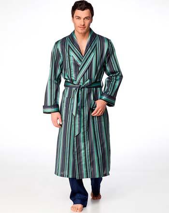 Красивый мужской халат 2015 в полоску фото