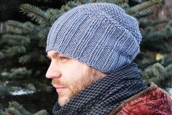 Мужская шапка модная вязанная