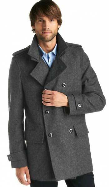 Модное мужское шерстяное пальто 2017 фото