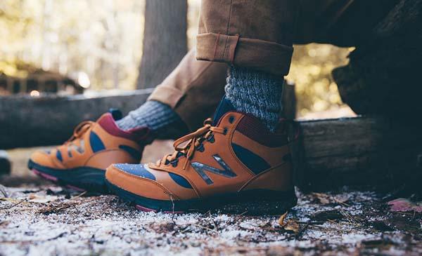 мужские кроссовки зимние New Balance brown