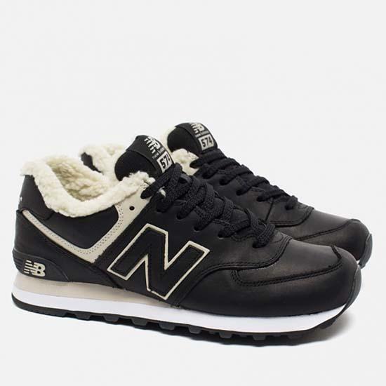 Черные зимние мужские кроссовки с мехом New Balance фото