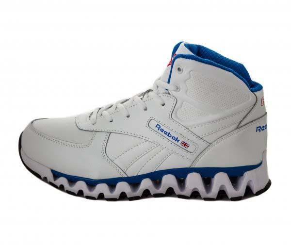 Бело-голубые мужские зимние кроссовки reebok zigtech фото