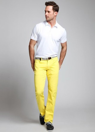 Модные желтые джинсы 2017 фото