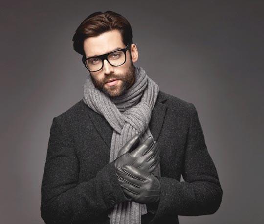 серый зимний шарф 2016 2017 фото