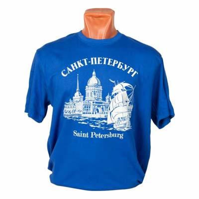футболка Санкт-Петербург с кораблем фото