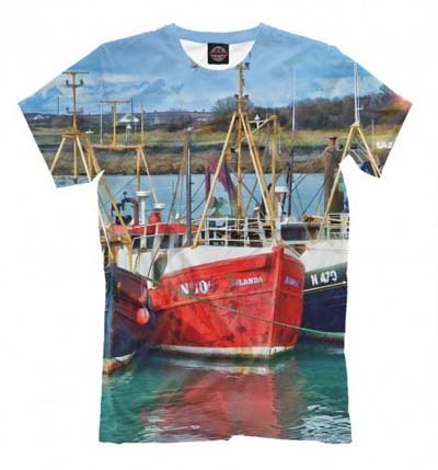 футболка с рисунком корабля фото