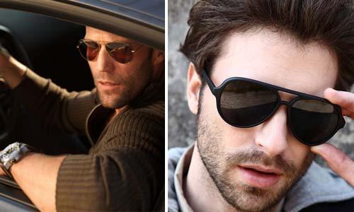 Стильные тонированные мужские солнцезащитные очки