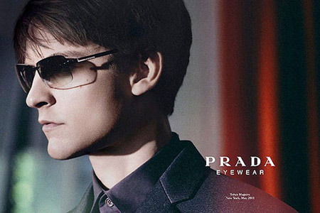 затемненные солнцезащитные очки Прада
