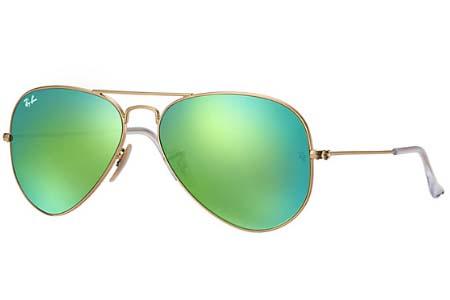 зеленые солнцезащитные очки авиаторы мужские рейбан фото