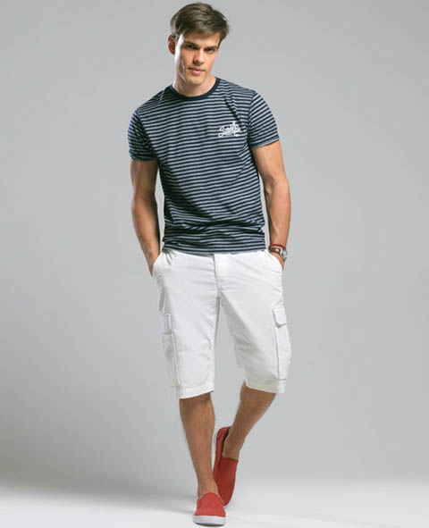 молодежная футболка в полоску фото