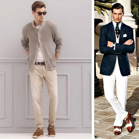 мужские белые классические брюки 2017 фото