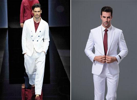 модный белый мужской костюм 2017 фото