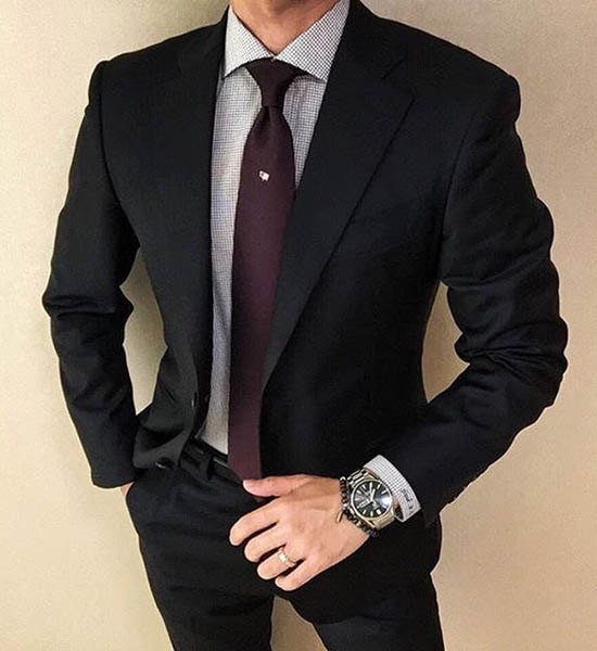 черный мужской костюм 2017 фото