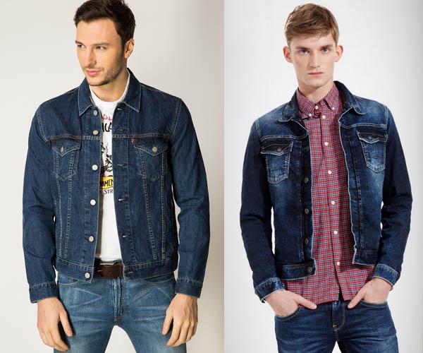 мужские джинсовые куртки 2017 года цвет темно-синий