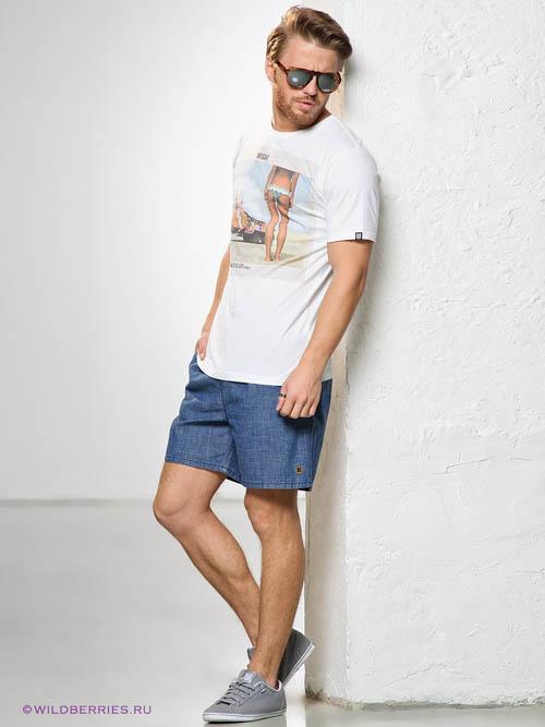 Модные мужские джинсовые шорты 2017 фото