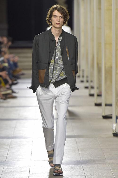 Белые мужские брюки 2017 Hermes фото