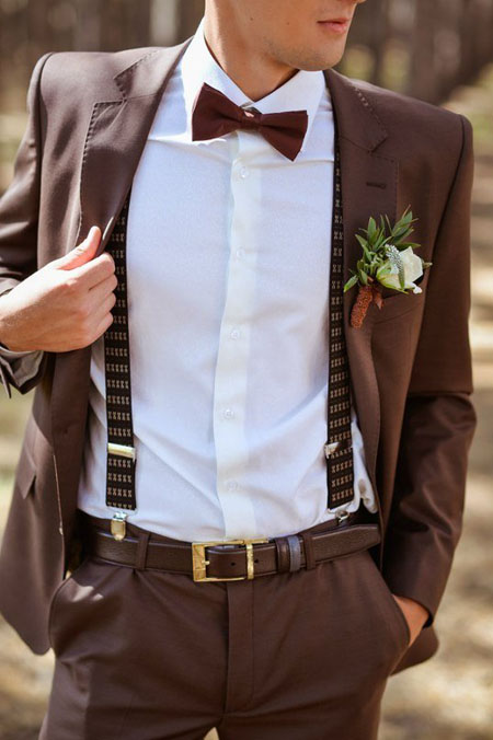 коричневый свадебный костюм мужской 2017 фото