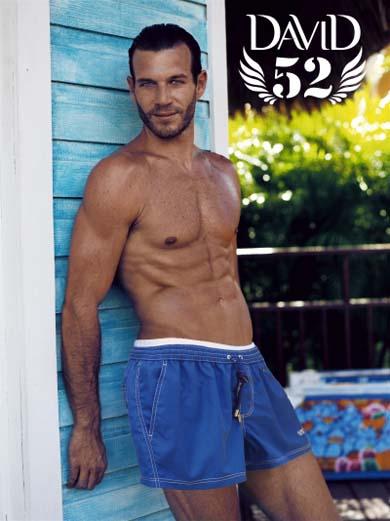Синие мужские пляжные шорты
