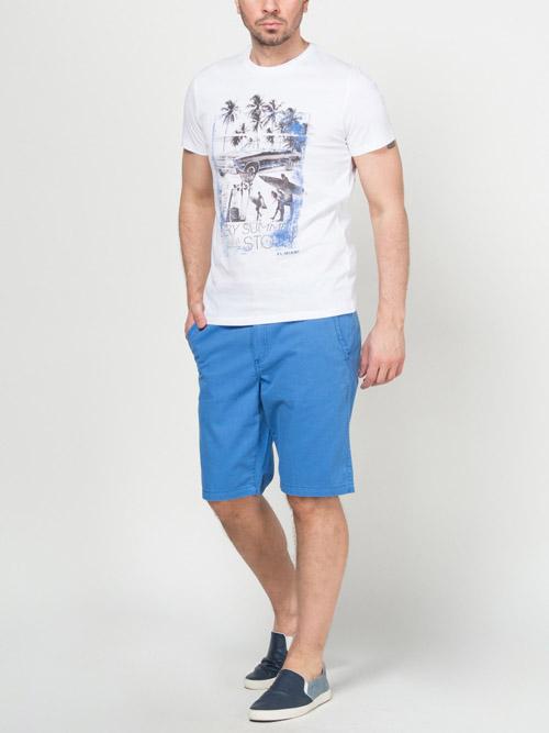 Синие летние мужские шорты 2017