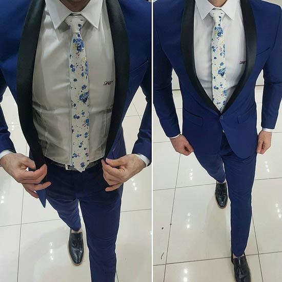 синий мужской костюм 2017 фото