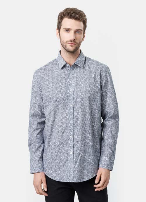 рубашка с принтом мужская 2017 фото