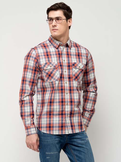 мужская рубашка в клетку 2017 года фото