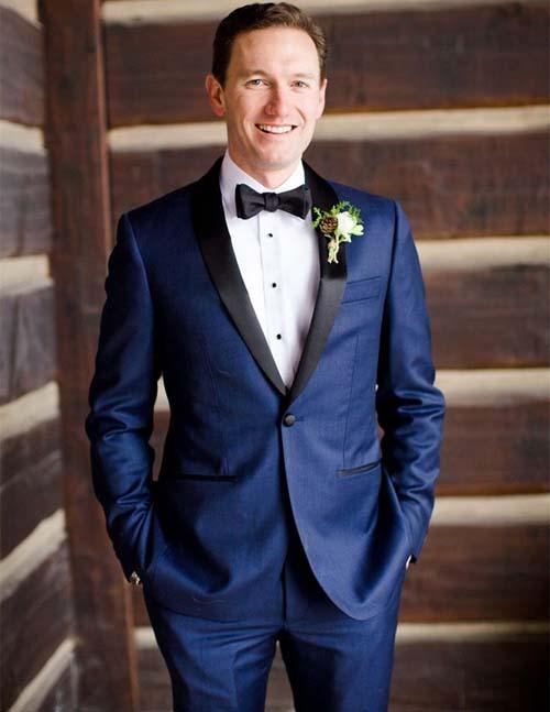 синий свадебный костюм для жениха 2017