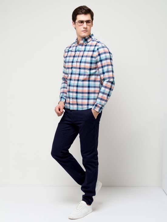 креативная мужская рубашка 2017 в клетку фото