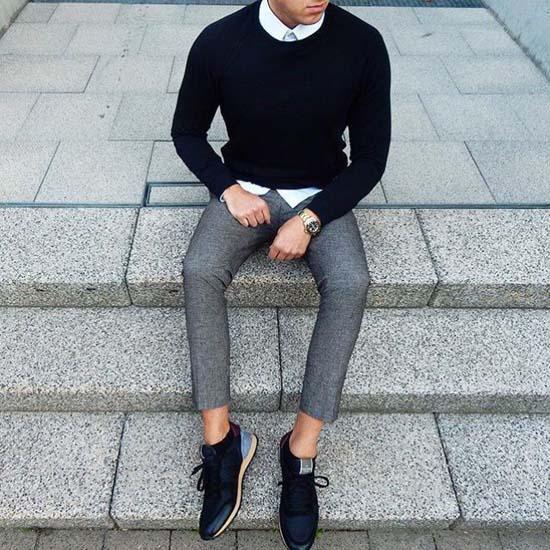 модные черные мужские кроссовки 2017