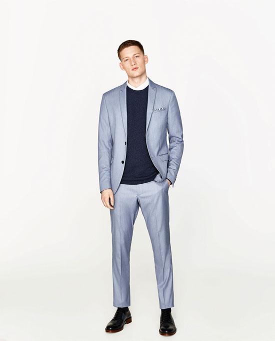 модный голубой пиджак 2017 зара фото