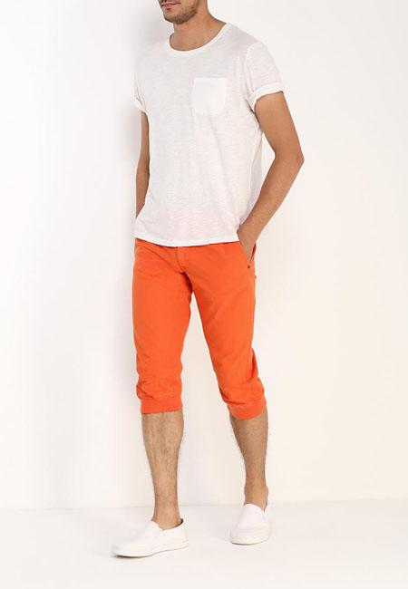 оранжевые мужские бриджи 2017 oodji фото