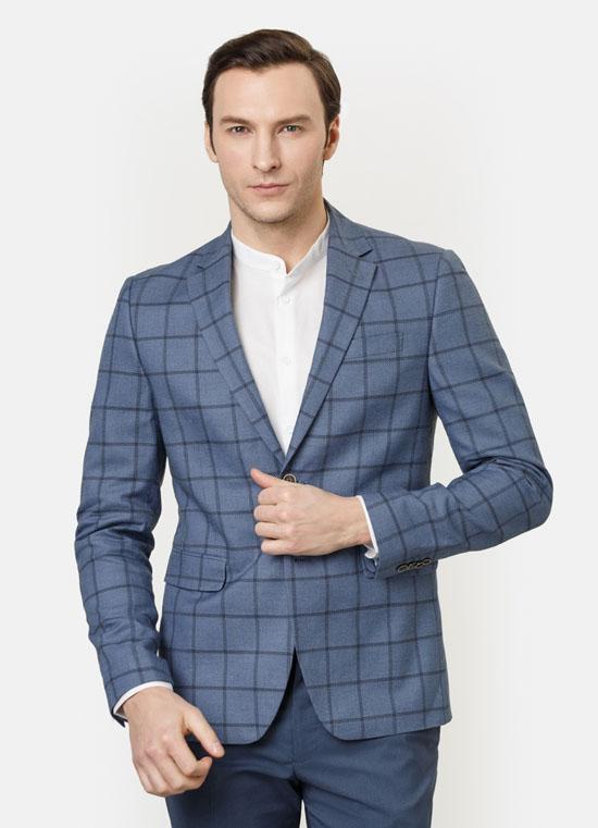 мужской пиджак крупная клетка 2017 фото