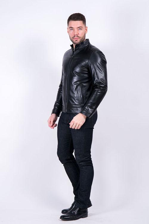 Модная кожаная куртка зима