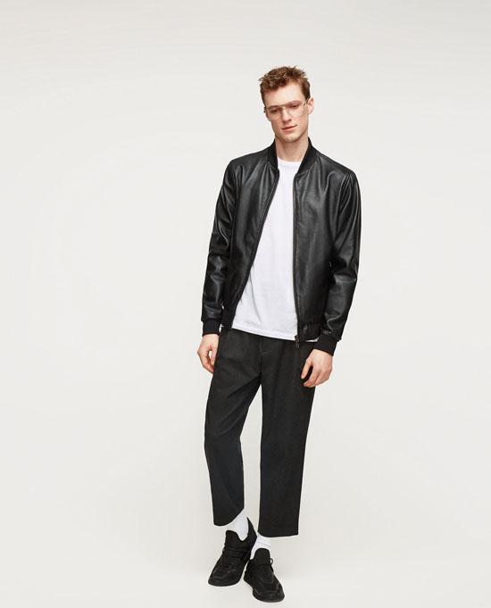 Тонкая кожаная куртка