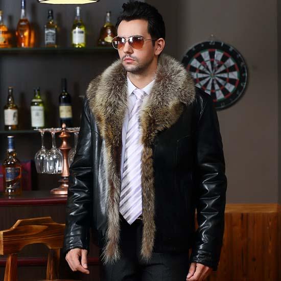 мужская кожаная куртка с мехом 2018 фото