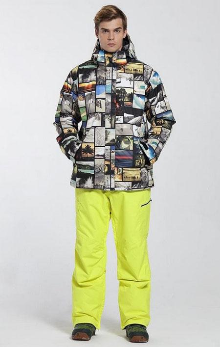 желтые горнолыжные штаны 2018 фото