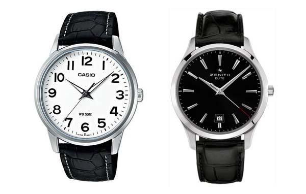 белые и черные мужские часы фото