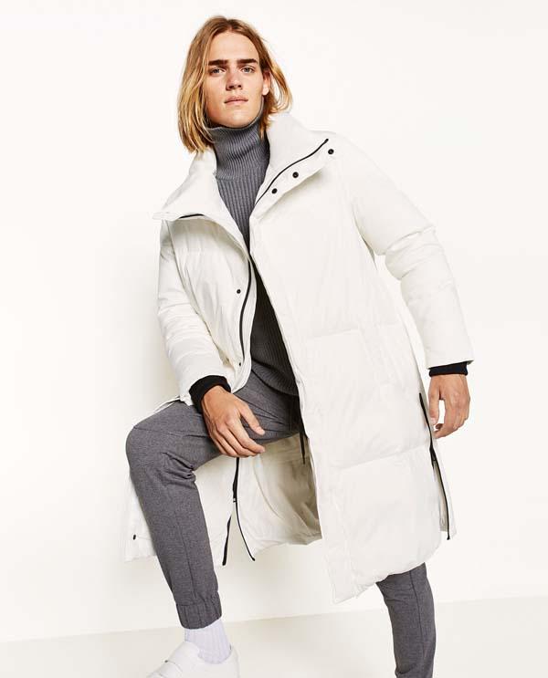 белое мужское пальто 2017-2018