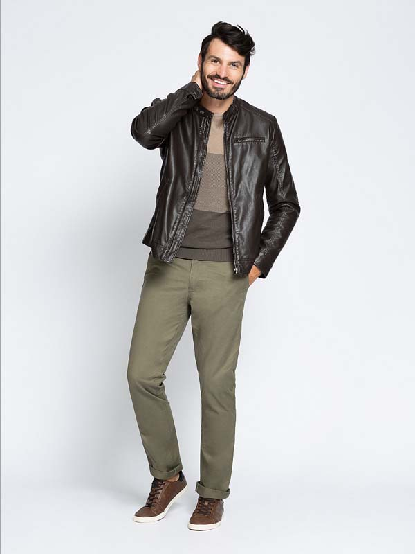 мужская кожаная куртка 2018