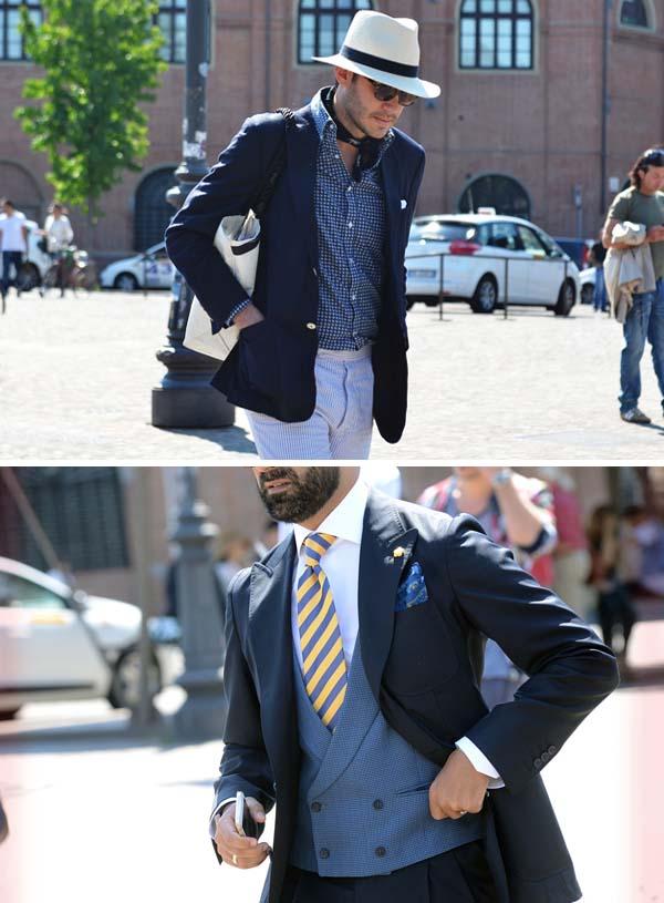мужская одежда цвета индиго