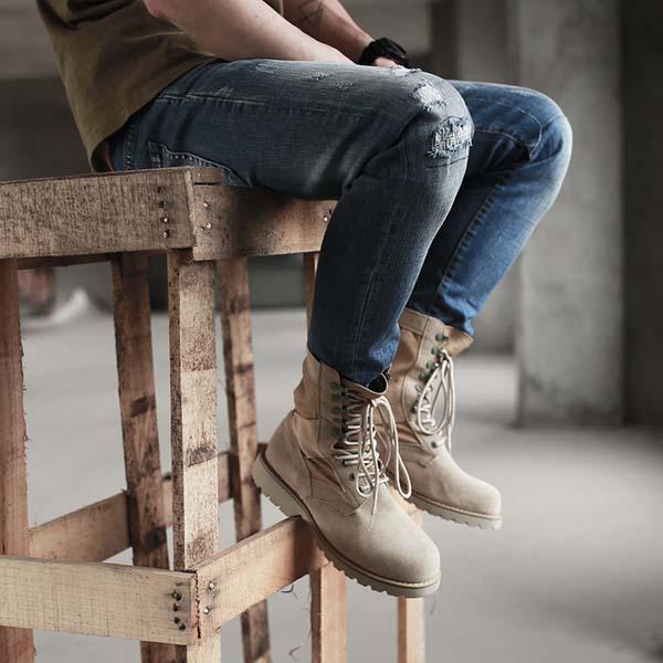 бежевые мужские ботинки 2017-2018 фото