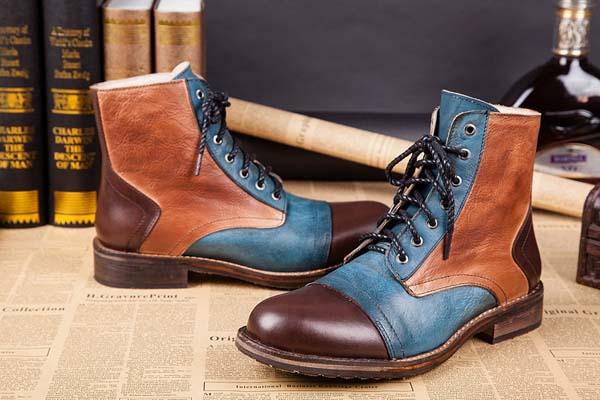 комбинированные мужские ботинки 2017-2018 фото