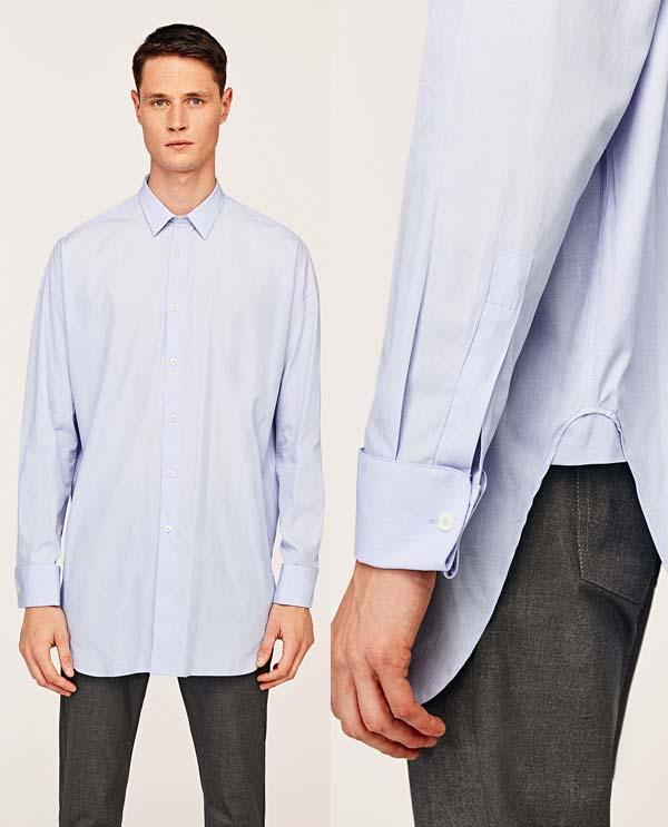 длинная рубашка свободного кроя фото