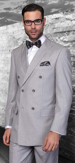 двубортный мужской костюм фото