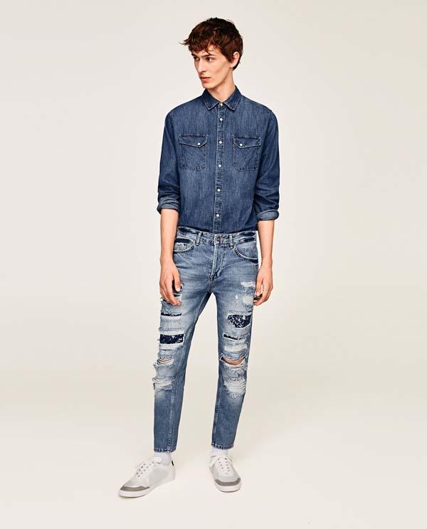 ультрамодные мужские джинсы 2018 фото