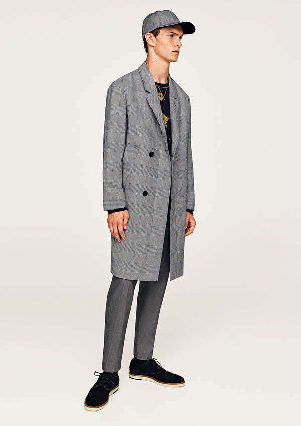 классическое мужское хлопковое пальто фото